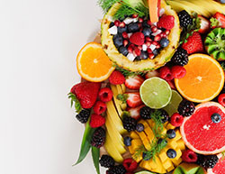 a large pile of healthy foods
